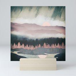 Forest Lake Evening Mini Art Print