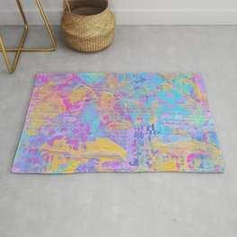 CMYK Mixed Media Collage Rug