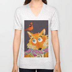Hello You Mr Fox Unisex V-Neck