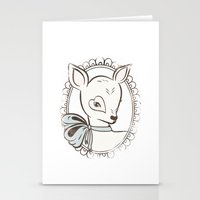 bambi Stationery Cards featuring BAMBI by TOO MANY GRAPHIX