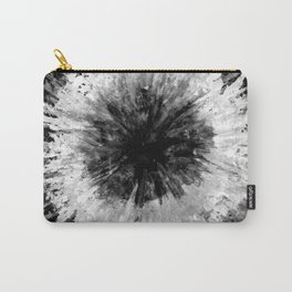 Black and White Tie Dye // Painted // Multi Media Carry-All Pouch