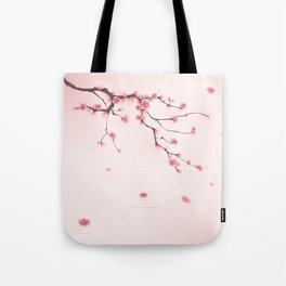 Oriental cherry blossom in spring 002 Tote Bag
