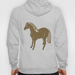 Brown Horse Printmaking Art Hoody
