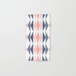Triangle Pattern in Blush and Slate Hand & Bath Towel