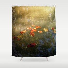 Floating fallen leaves Shower Curtain