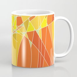 Abstract geometric orange pattern, vector illustration Coffee Mug