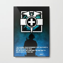 Doc Logo and Quote Metal Print