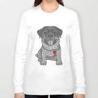 rottweiler Long Sleeve T-shirts featuring Courageous Heart- Rottweiler by DiAnne Ferrer