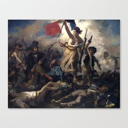 Liberty Leading the People by Eugène Delacroix (1830) Canvas Print