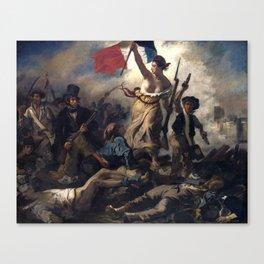 Liberty Leading the People by Eugène Delacroix (1830) Canvas Print