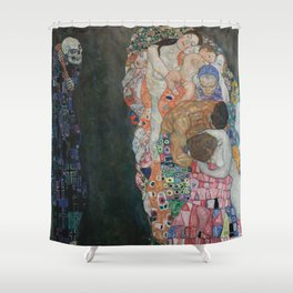 Life and Death - Gustav Klimt Shower Curtain