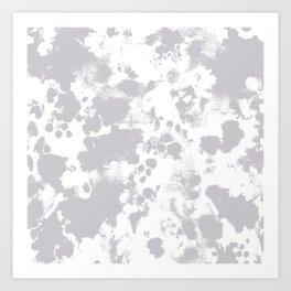 Grey - pattern painting gray and white minimal modern art large stretched canvas minimal decor Art Print