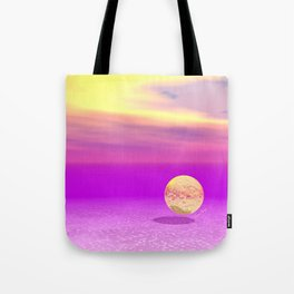 Adrift, Abstract Gold Violet Ocean Tote Bag