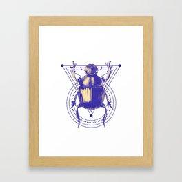 Beetle and geometric Framed Art Print