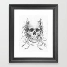 Medusa Skull Framed Art Print