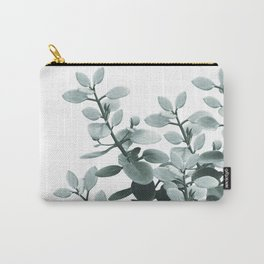Eucalyptus Leaves Green Vibes #1 #foliage #decor #art #society6 Carry-All Pouch