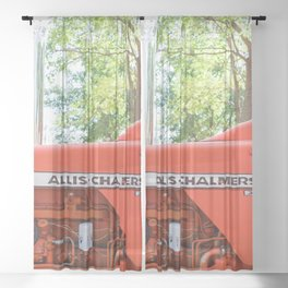 Allis - Chalmers Vintage Tractor Sheer Curtain