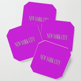 New York City (white type on pink) Coaster