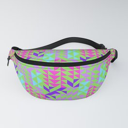Geometrical pink lilac teal green abstract triangles Fanny Pack