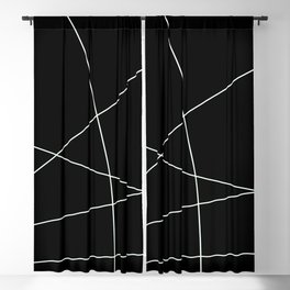 Black and White Minimalist Lines Blackout Curtain