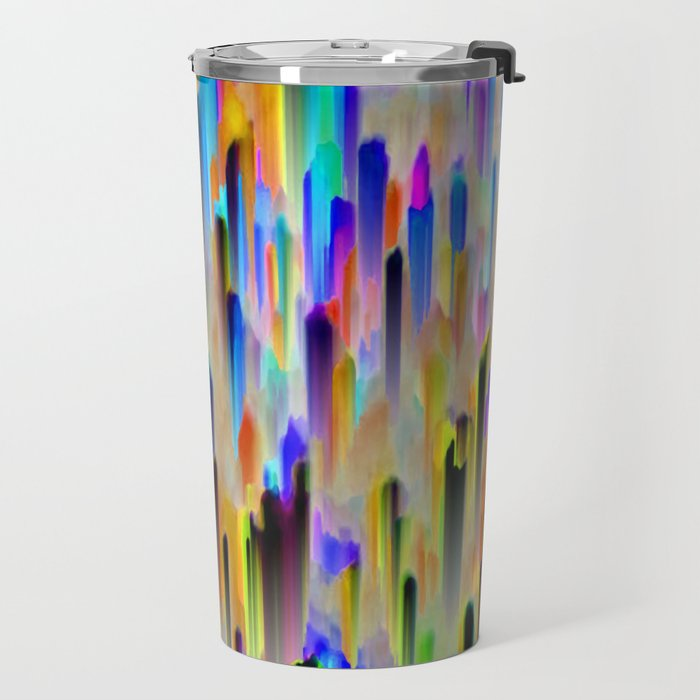 Colorful digital art splashing G393 Travel Mug
