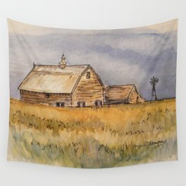 Barns and Windmill Wall Tapestry