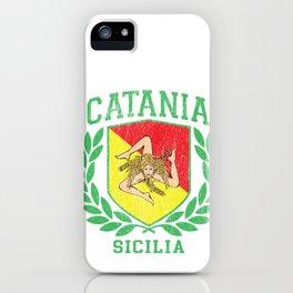 Sicilia Flag and Shield Trinacria - Catania iPhone Case