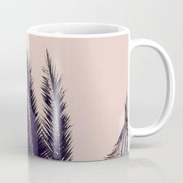 PALM TREE ROSE BLACK Coffee Mug