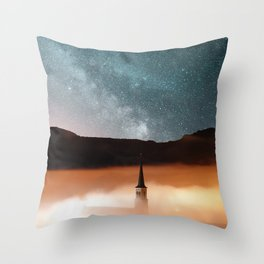 starlights and towers Throw Pillow