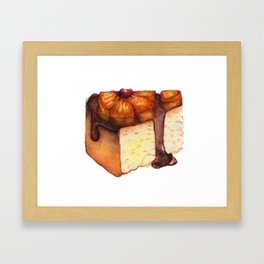 Pineapple Upside-Down Cake Slice Framed Art Print
