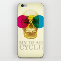 cycle iPhone & iPod Skins featuring CYCLE by Nazario Graziano
