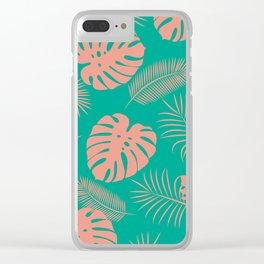 TROPICAL LEAVES 8 Clear iPhone Case