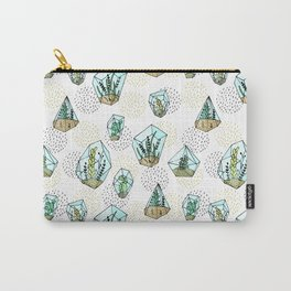 Succulents in the glass vase Carry-All Pouch