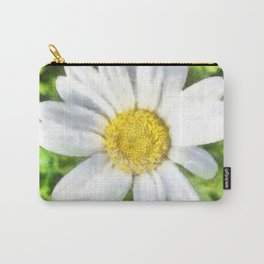 Radiant Daisy Watercolor Carry-All Pouch