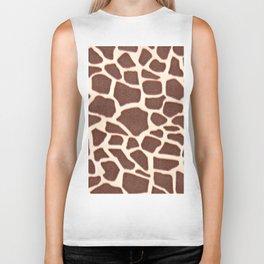 Giraffe Animal Pattern Print Biker Tank