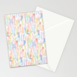 Abstract Brushstrokes - Pastels Stationery Cards