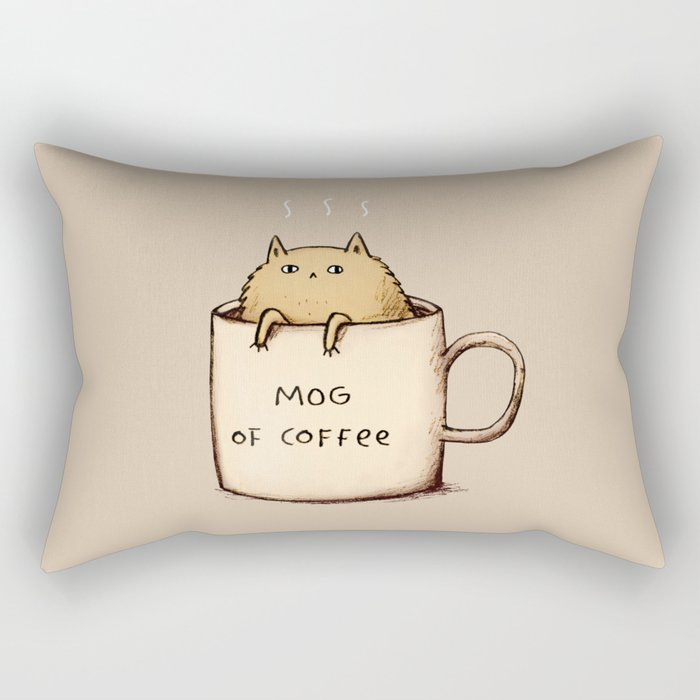 Mog of Coffee Rectangular Pillow