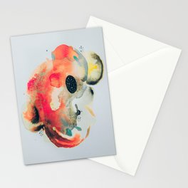 Black hole watercolor Stationery Cards