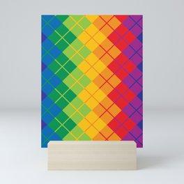 Rainbow Argyle Mini Art Print