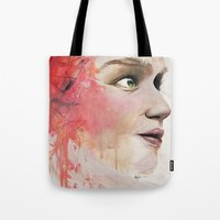 emily rickard Tote Bags featuring Emily by Autumn Chiu