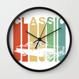 Classic Car American Automobile Vintage Car Gift Wall Clock