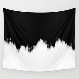 Black And White Abstract Art Wall Tapestry