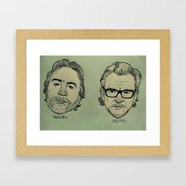 De Niro & Keitel Framed Art Print