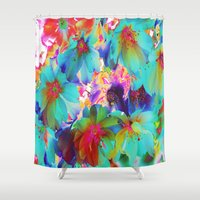 oriental Shower Curtains featuring Oriental Happiness by Aloke Design