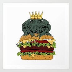 King of Burgers Art Print