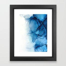 Blue Tides - Alcohol Ink Painting Framed Art Print