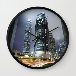 Hong Kong-Sky Scrapper Wall Clock