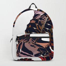 Art seahorse print, tribal motifs, nautical theme Backpack