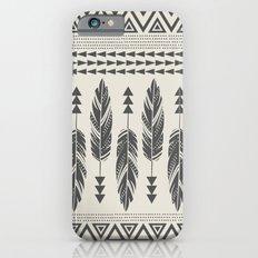 Tribal Feathers-Black & Cream iPhone 6 Slim Case