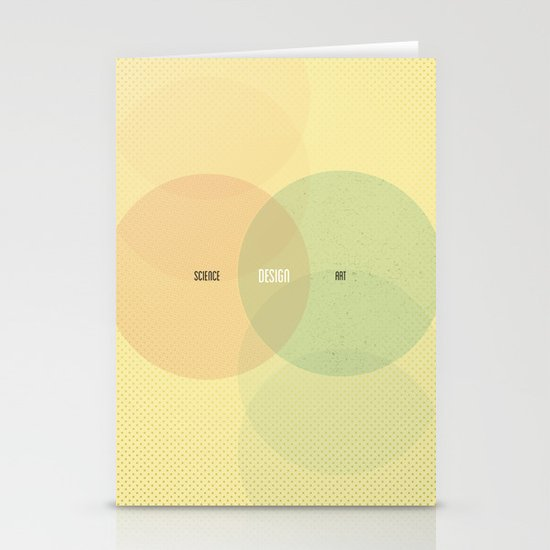 Design is Where Science and Art Break Even Stationery Cards